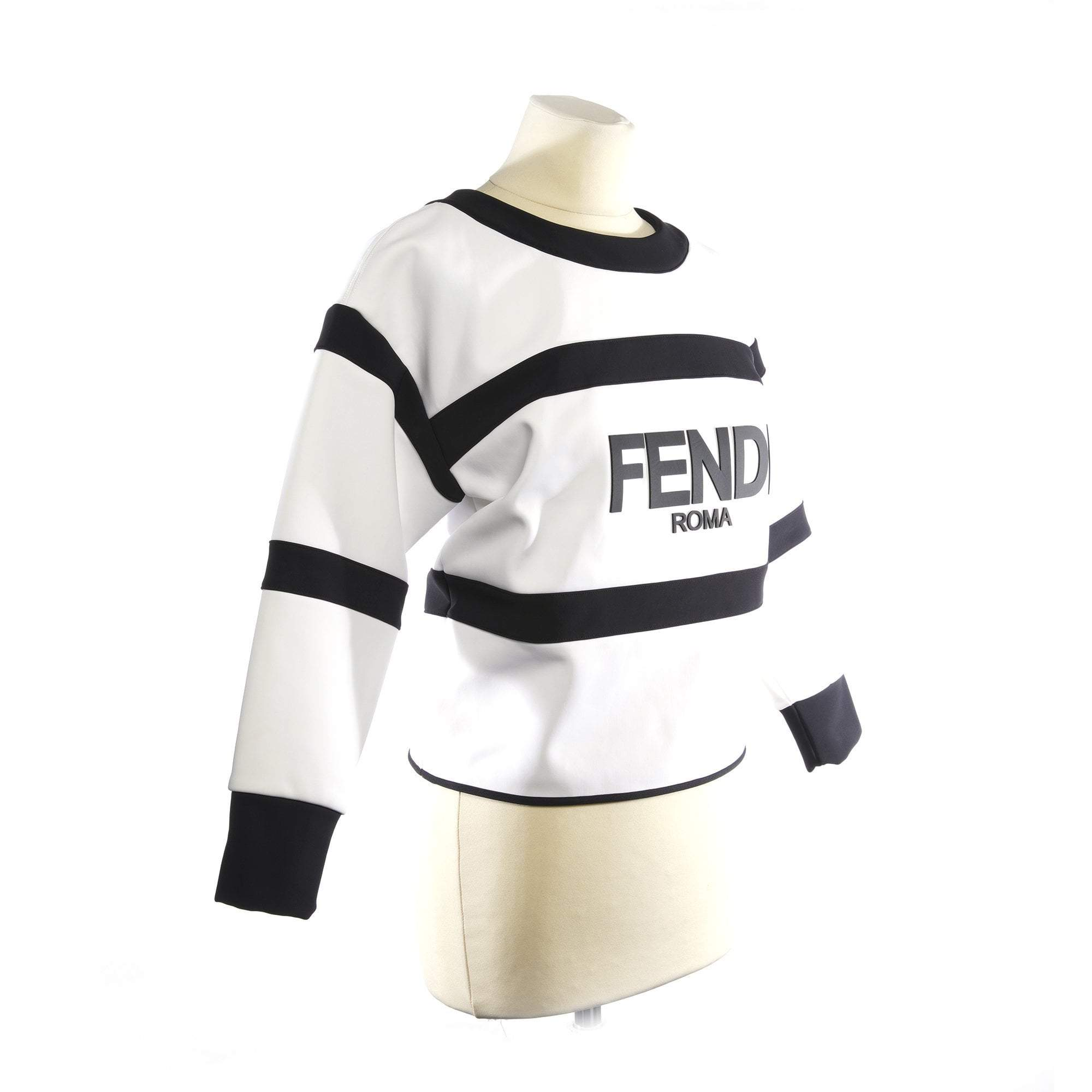 Fendi Logo Striped Jumper
