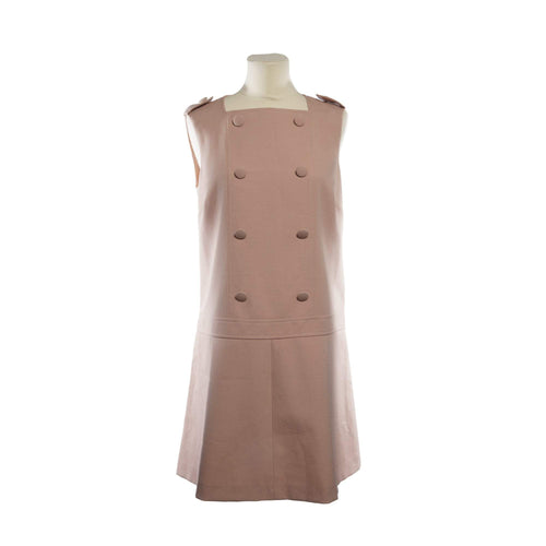 Red Valentino Dusty Pink Button Printed Dress