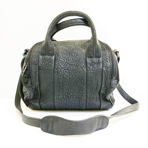 Alexander Wang Black Leather Mini Rockie Satchel