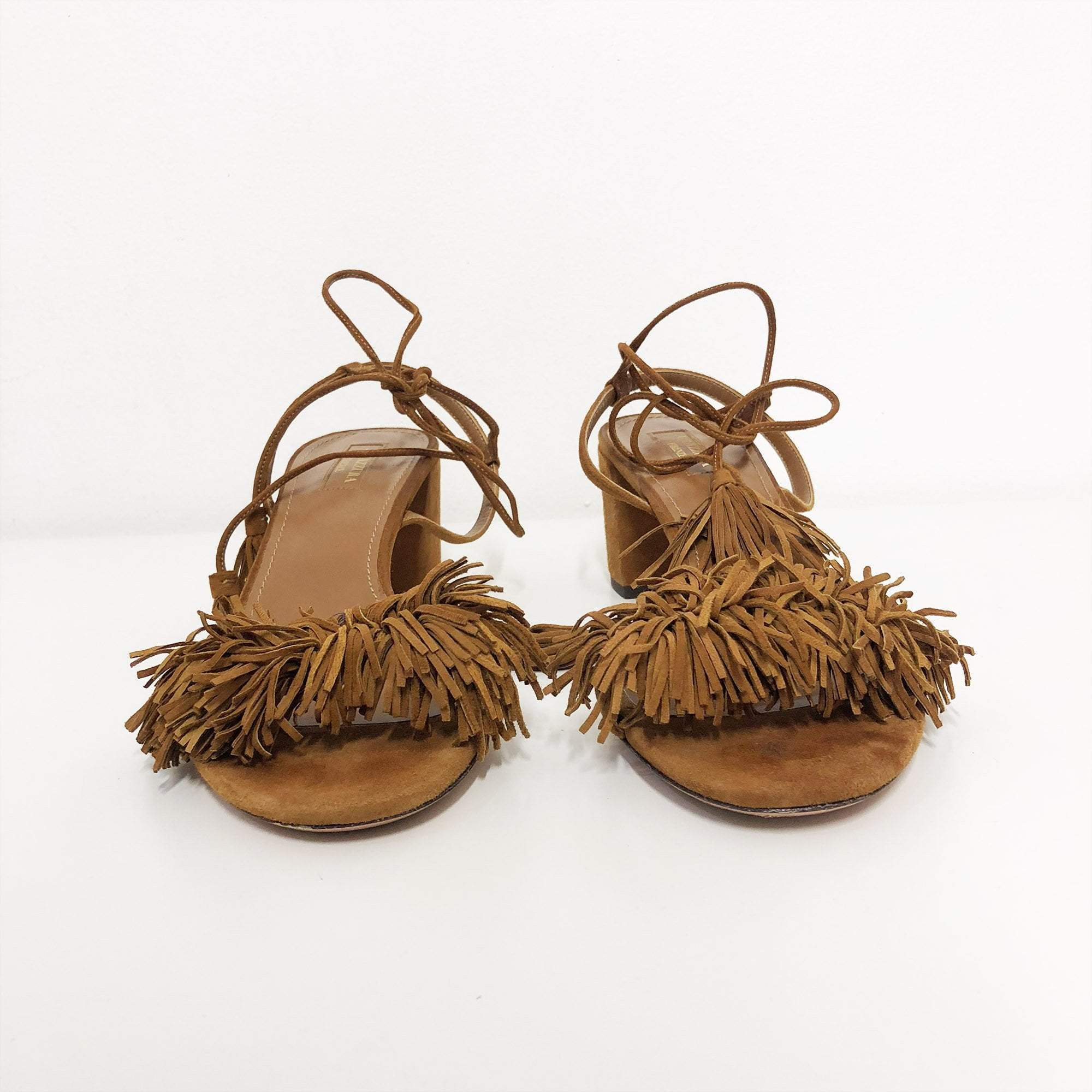 Aquazzura Wild Thing Fringed  Suede Sandal
