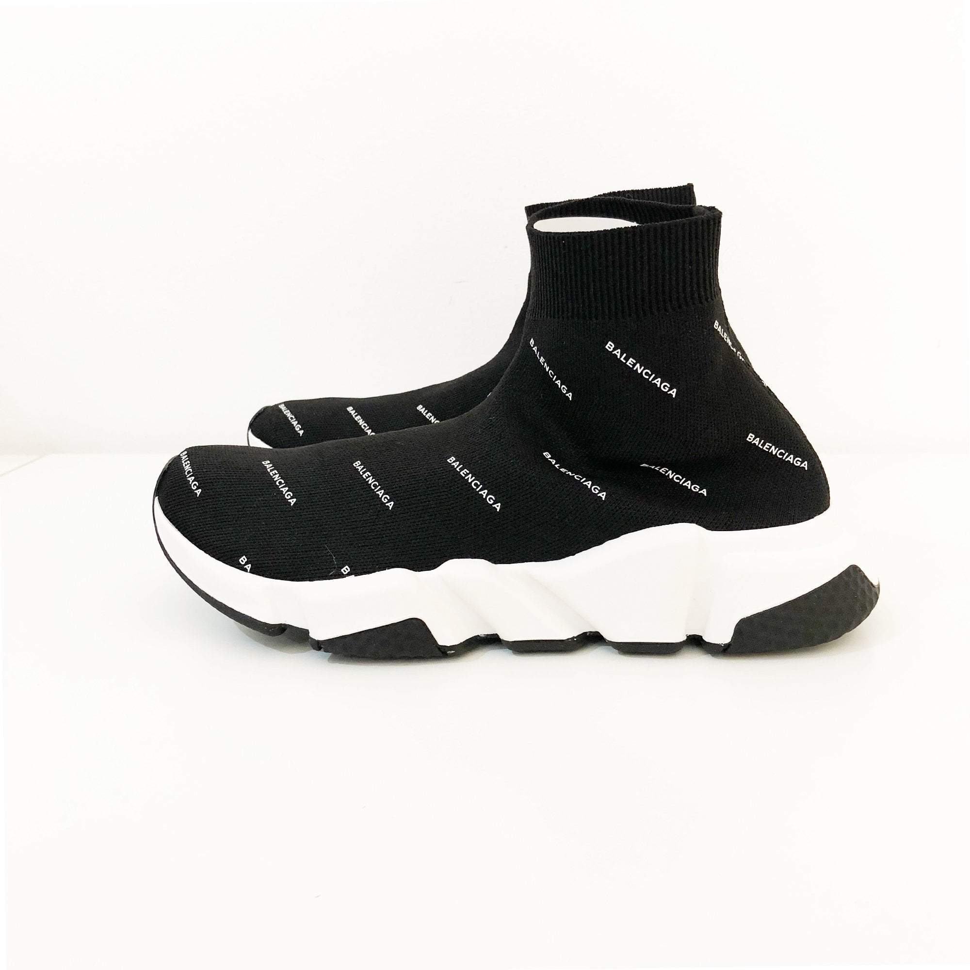 Balenciaga Black Speed High-Top Sneakers