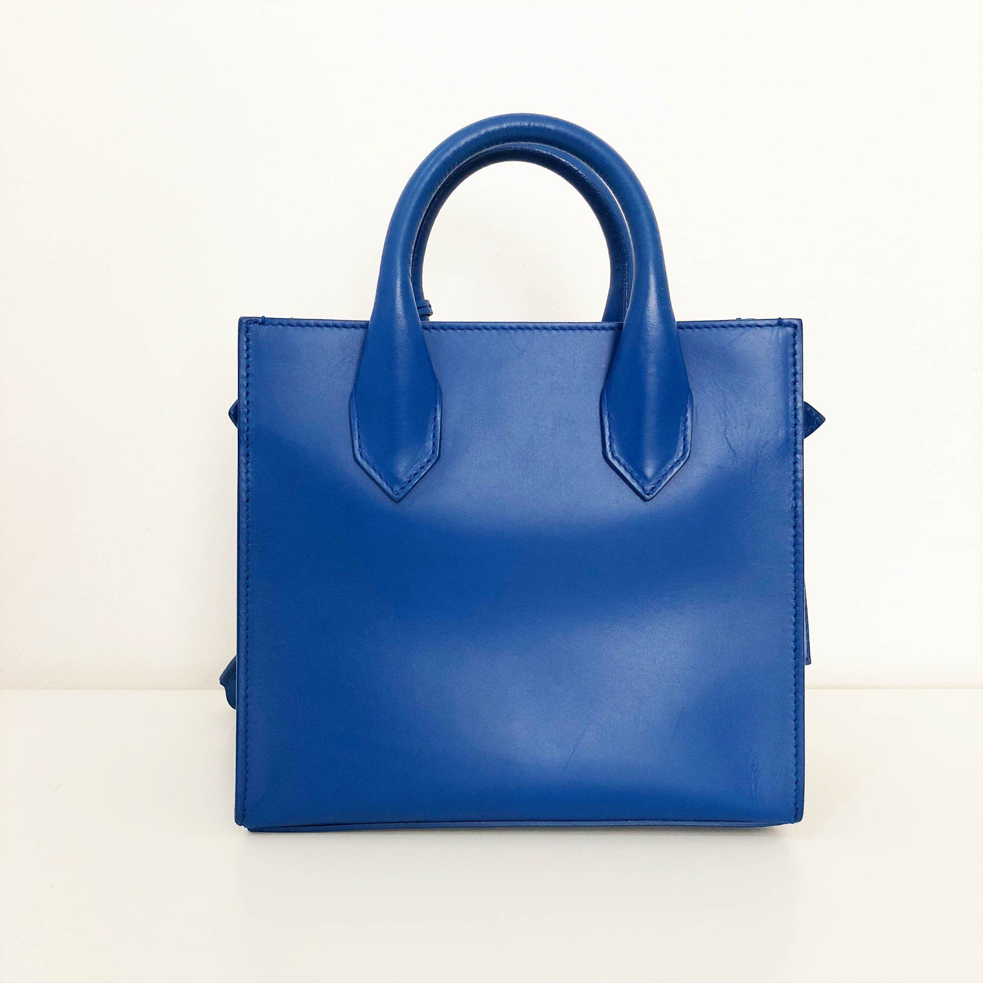 Balenciaga Blue Leather Leather Mini All Afternoon Tote