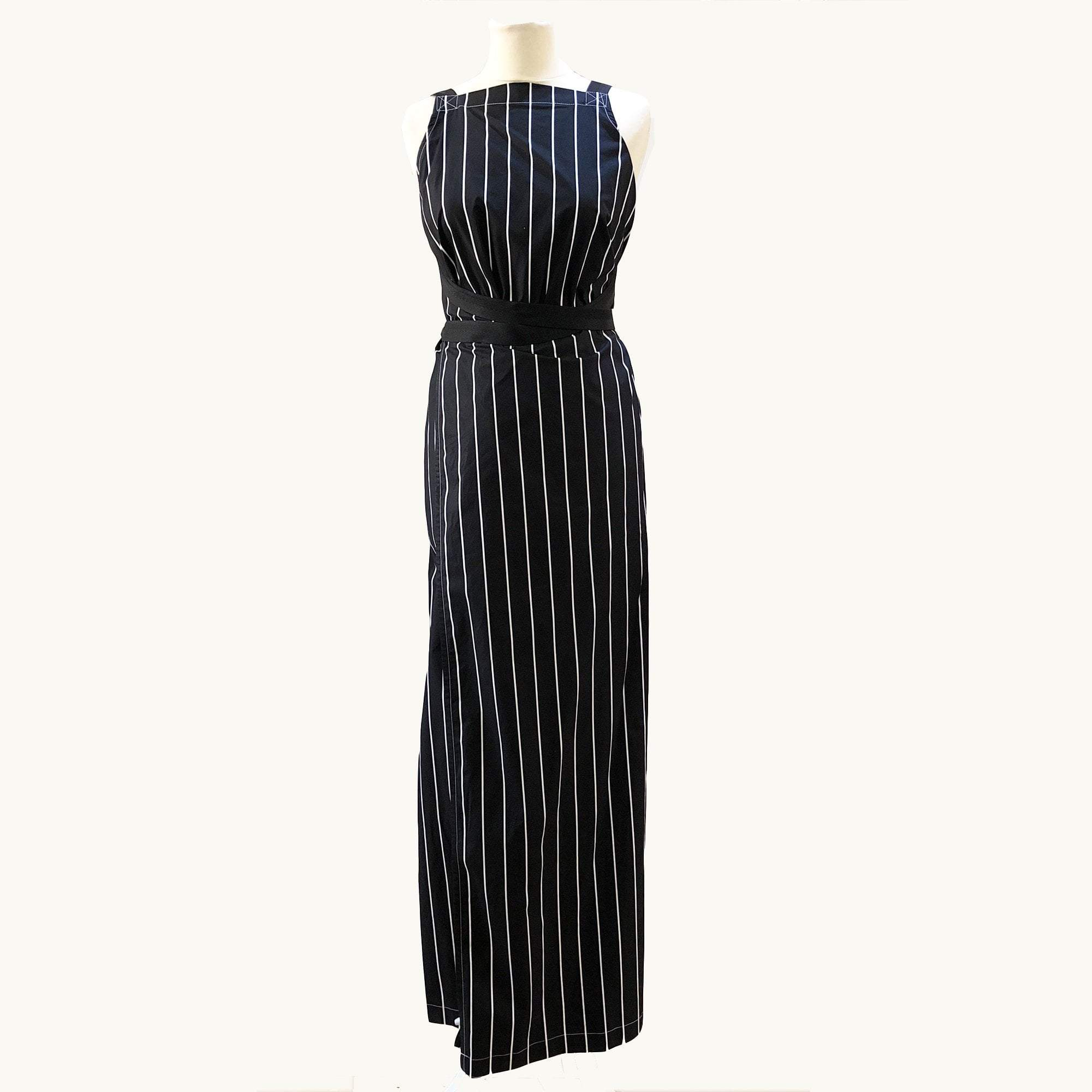 Balenciaga Striped Wrap Around Dress