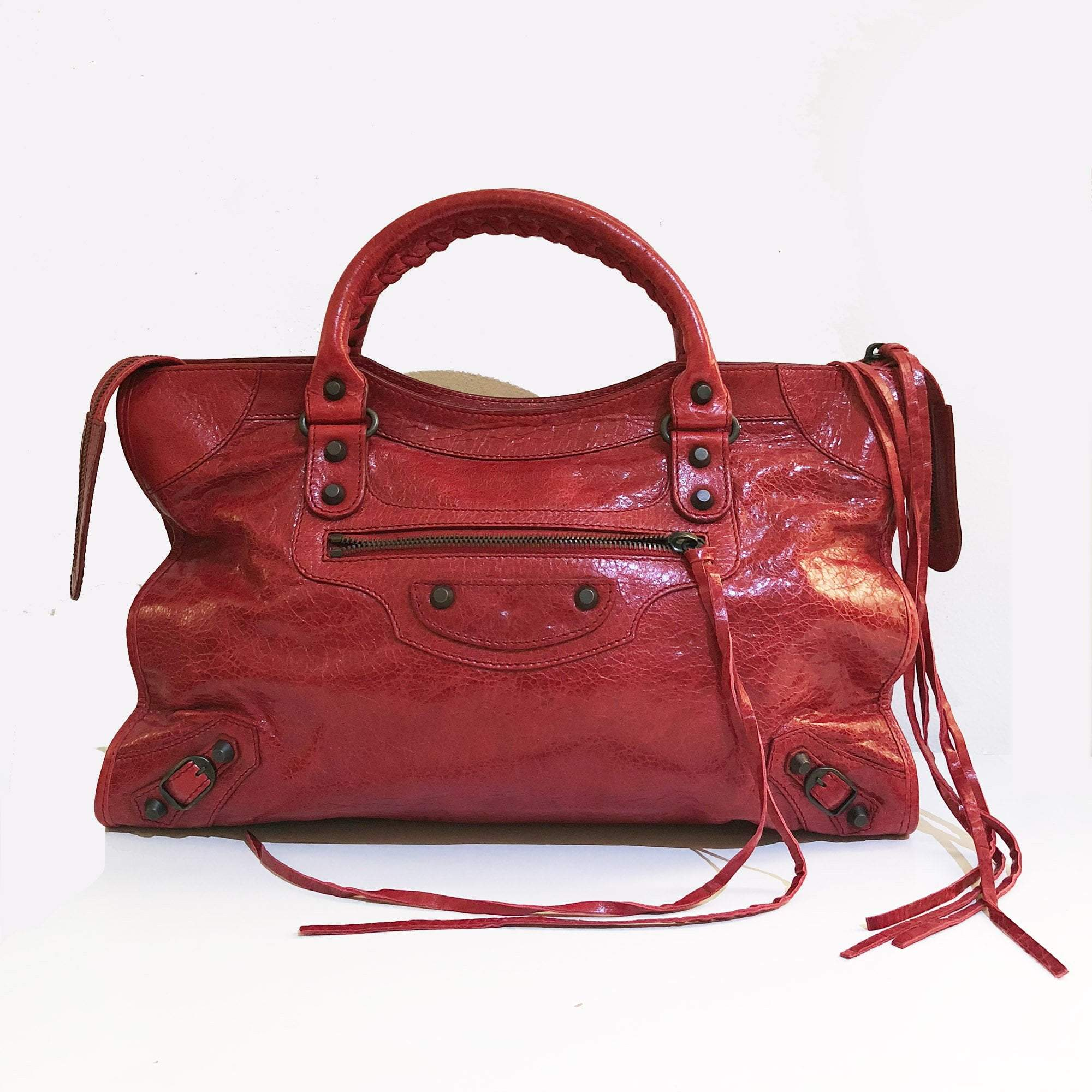 Balenciaga Classic Medium City Red Bag