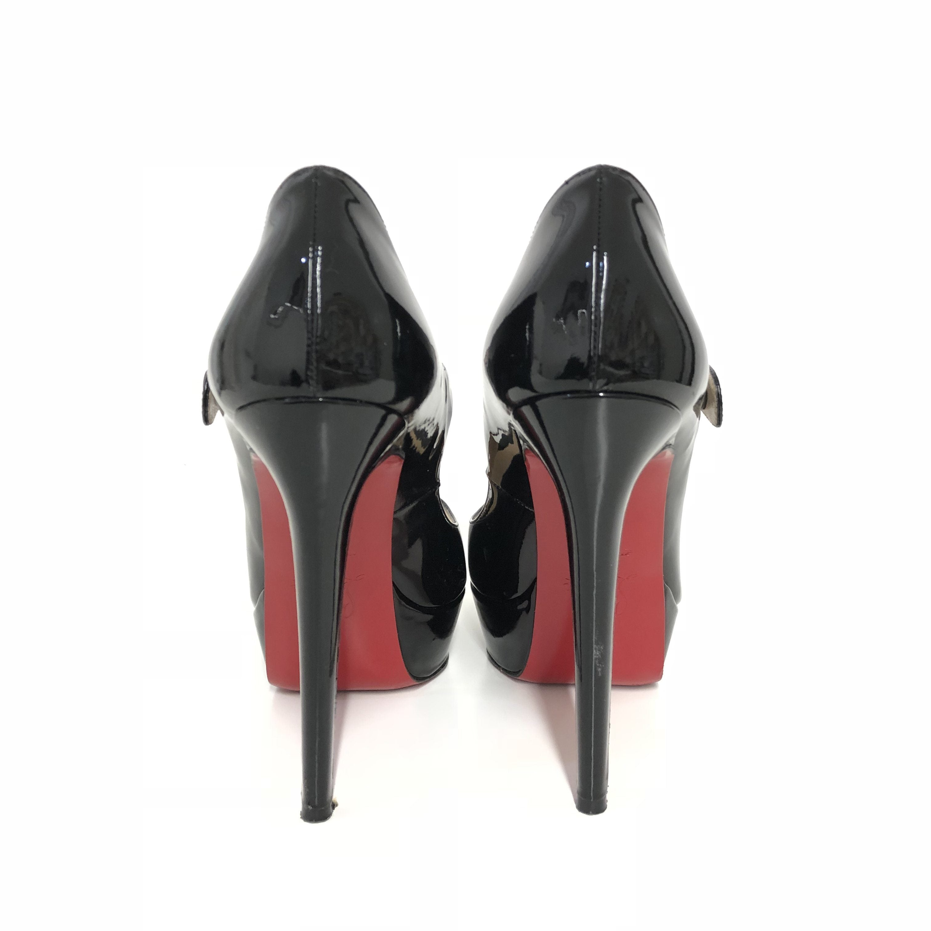 Christian Louboutin Bana 140 Patent Mary Jane Pumps
