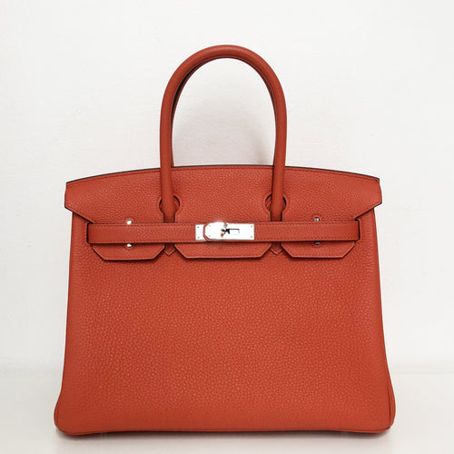 Hermes Birkin 30 Capucine in Togo Leather