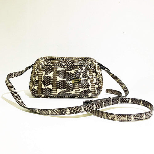 7dde10940190 Bottega Veneta Chartreuse Mangrove And Ayers Snakeskin Crossbody Bag ...
