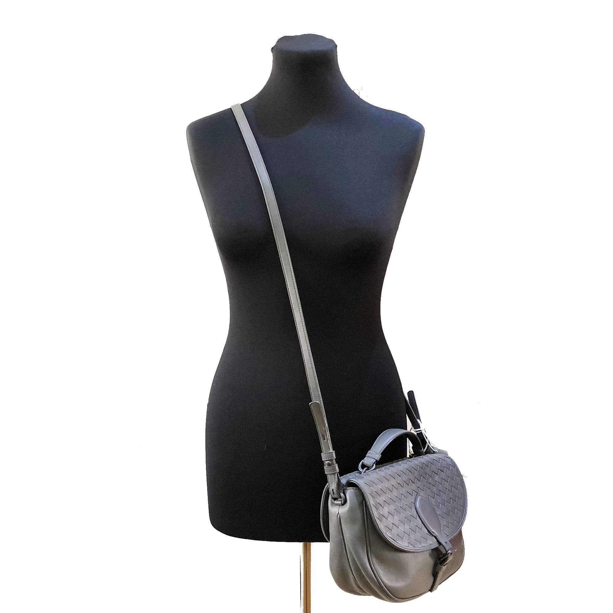 Bottega Veneta Grey Satchel Crossbody Bag