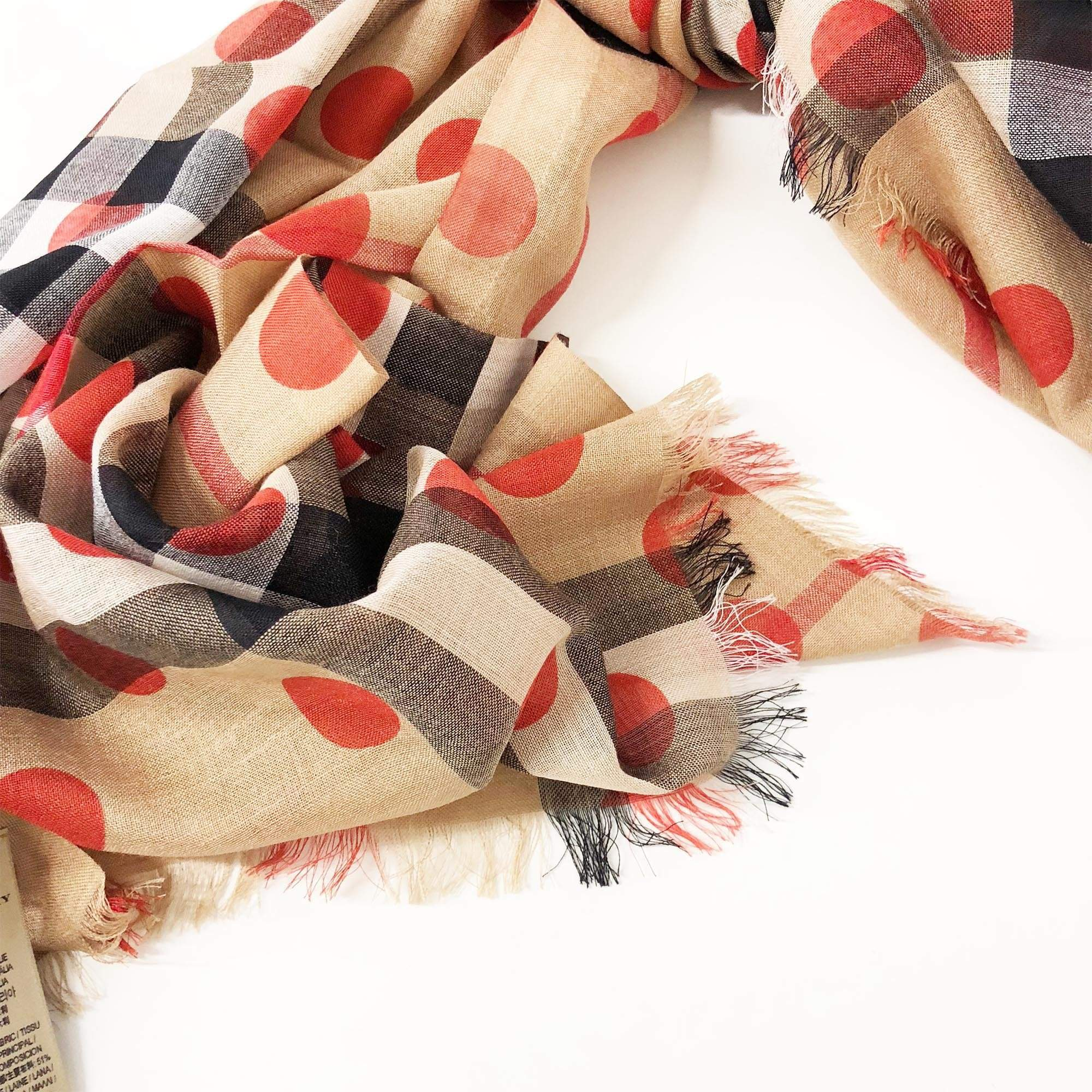 Burberry Giant Check Wool and Silk Scarf