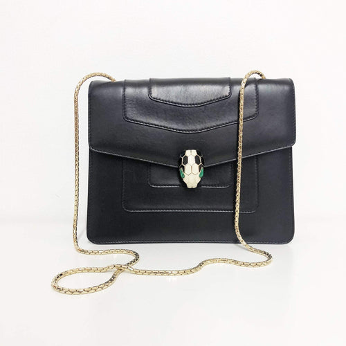 Bvlgari Black Serpenti Forever Shoulder Bag
