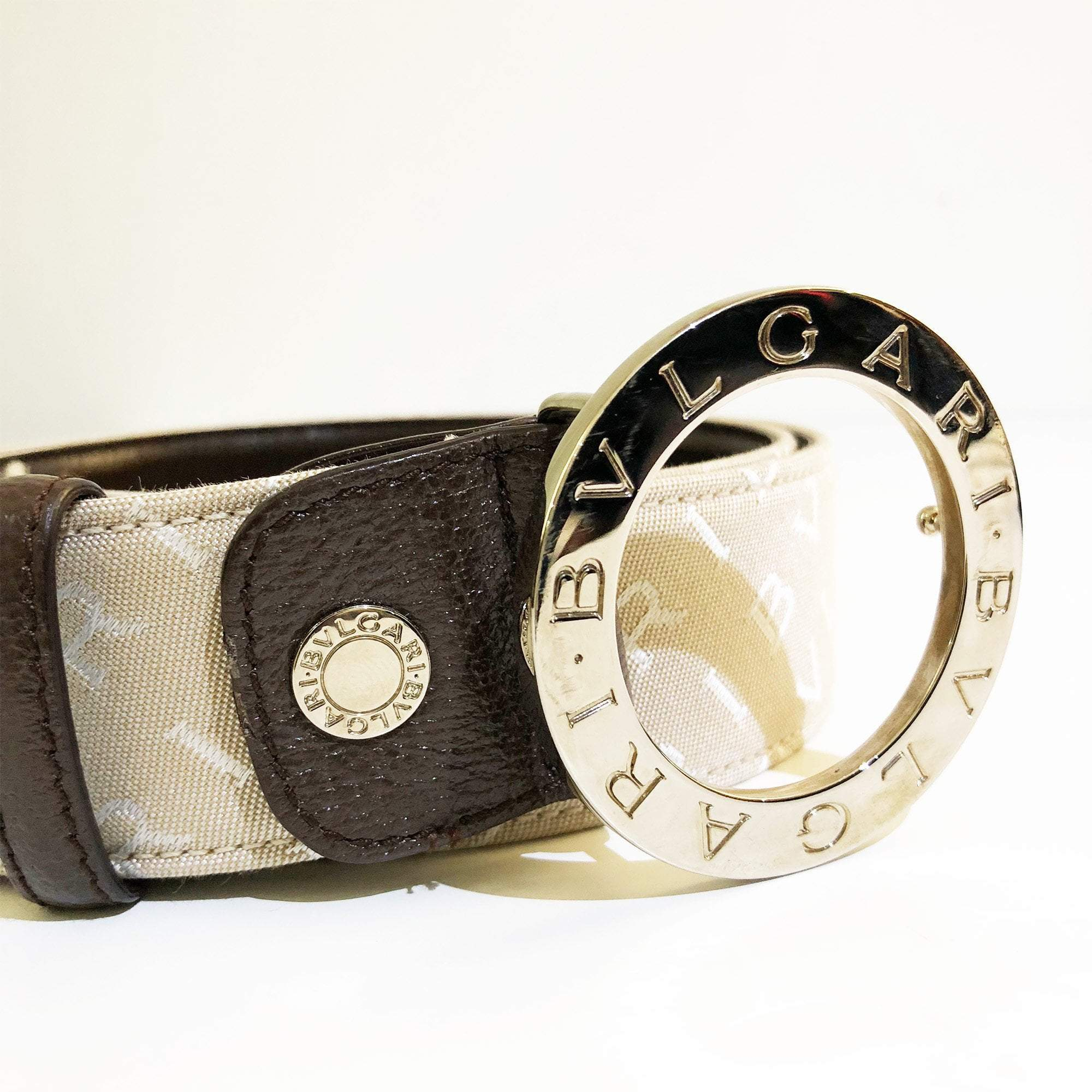 Bvlgari Signature Buckle Belt