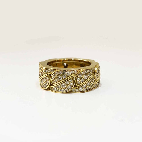 Cartier Diamond Yellow Gold La Dona Band Ring