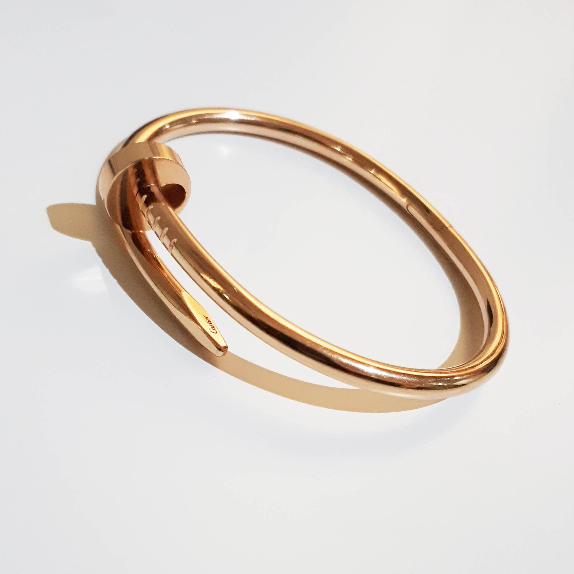 un gold cartier juste goo clou bracelet appealing at nail diamond