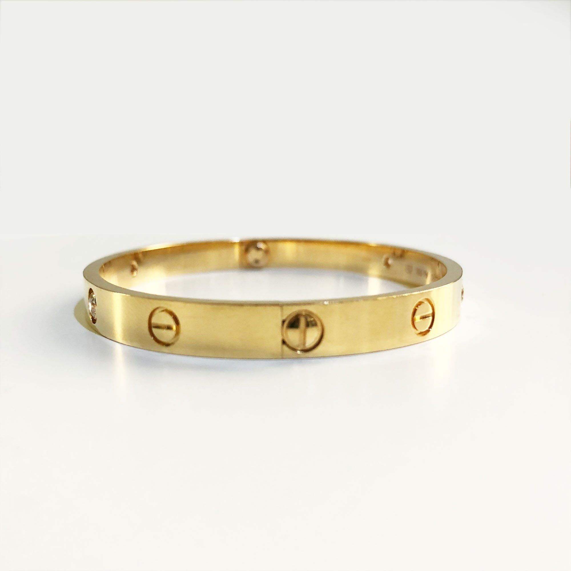 Cartier Love Bracelet In Yellow Gold With 4 Diamonds