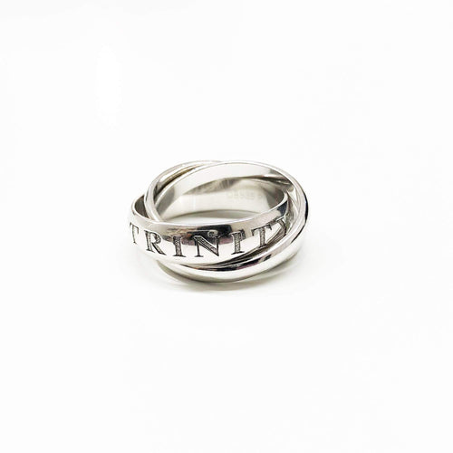 Cartier Or Amour Et Trinity 18k White Gold Ring