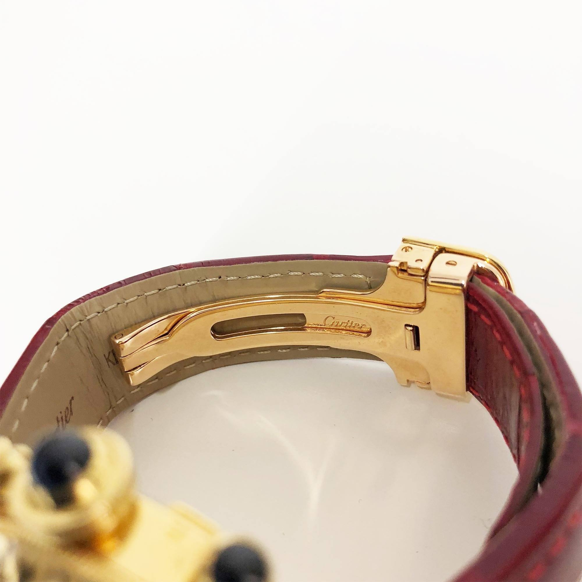 Cartier Pasha 35 mm Yellow Gold Watch