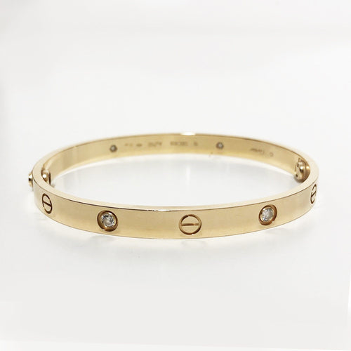 Cartier Rose Gold Love Bracelet with 4 Diamonds