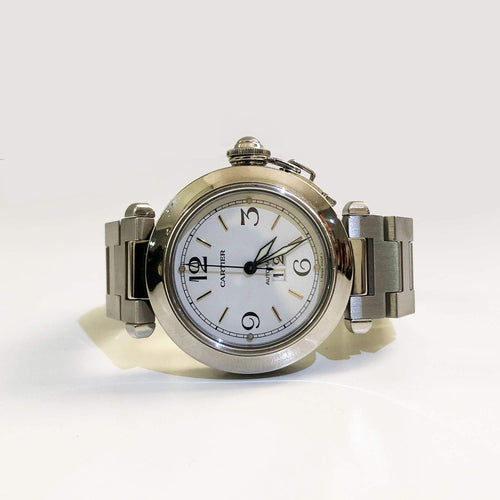 Cartier White Stainless Steel Pasha de Cartier Women's Wristwatch