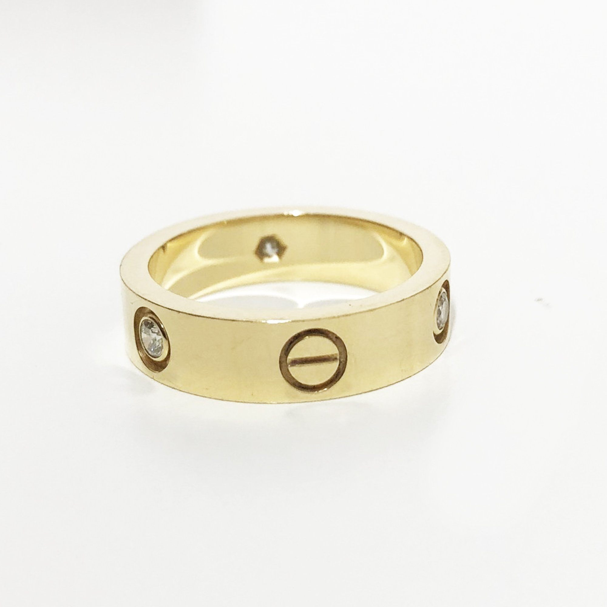 Cartier Yellow Gold Love Ring with 3 Diamonds