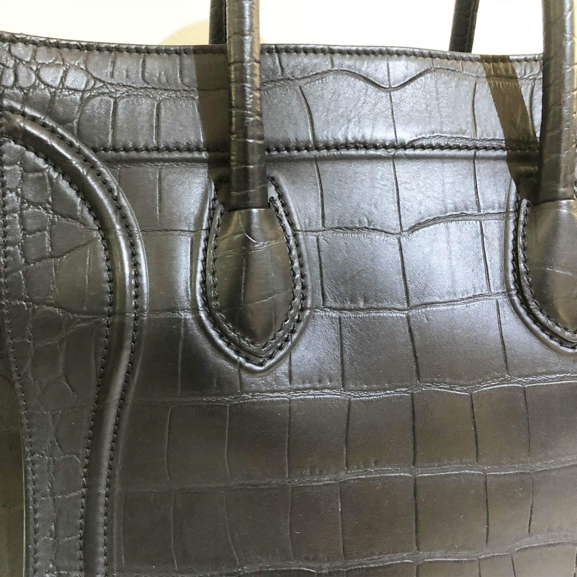 Celine Phantom Crocodile Embossed Bag