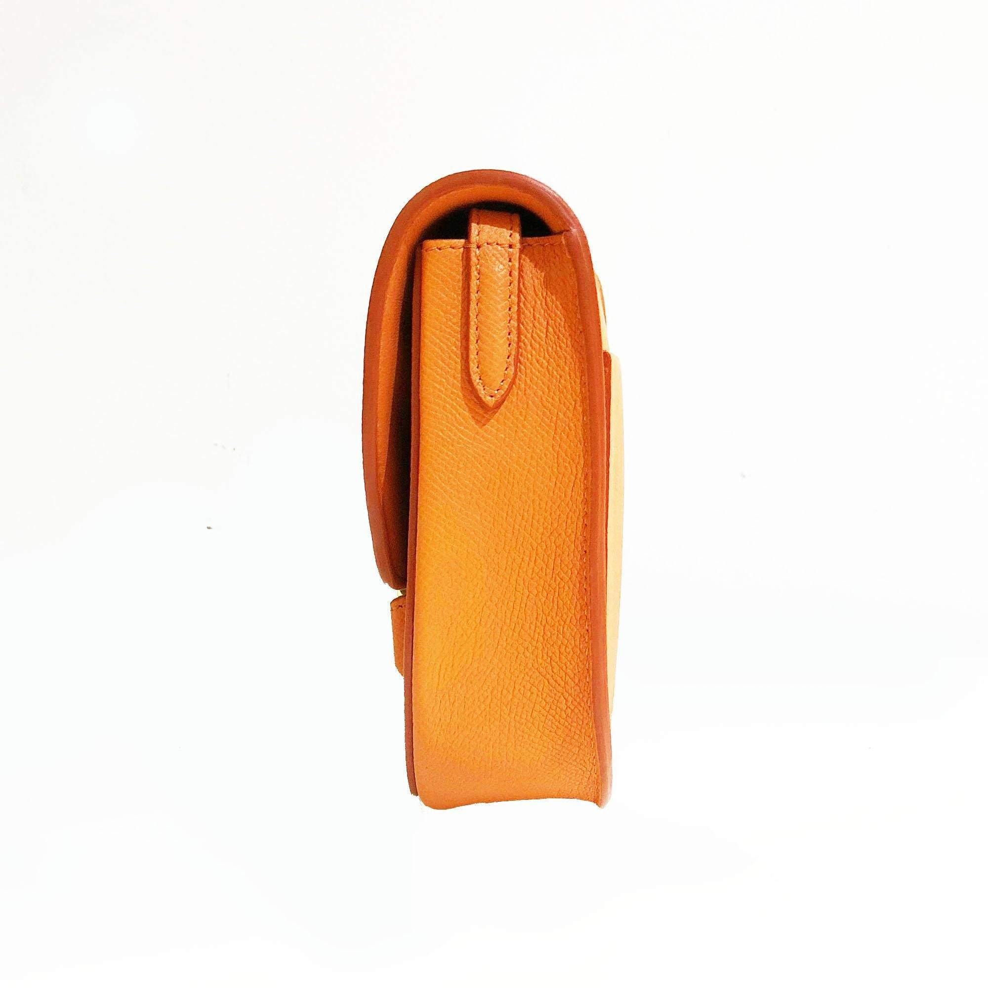 Celine Small Orange Trotteur-Shoulder Bag