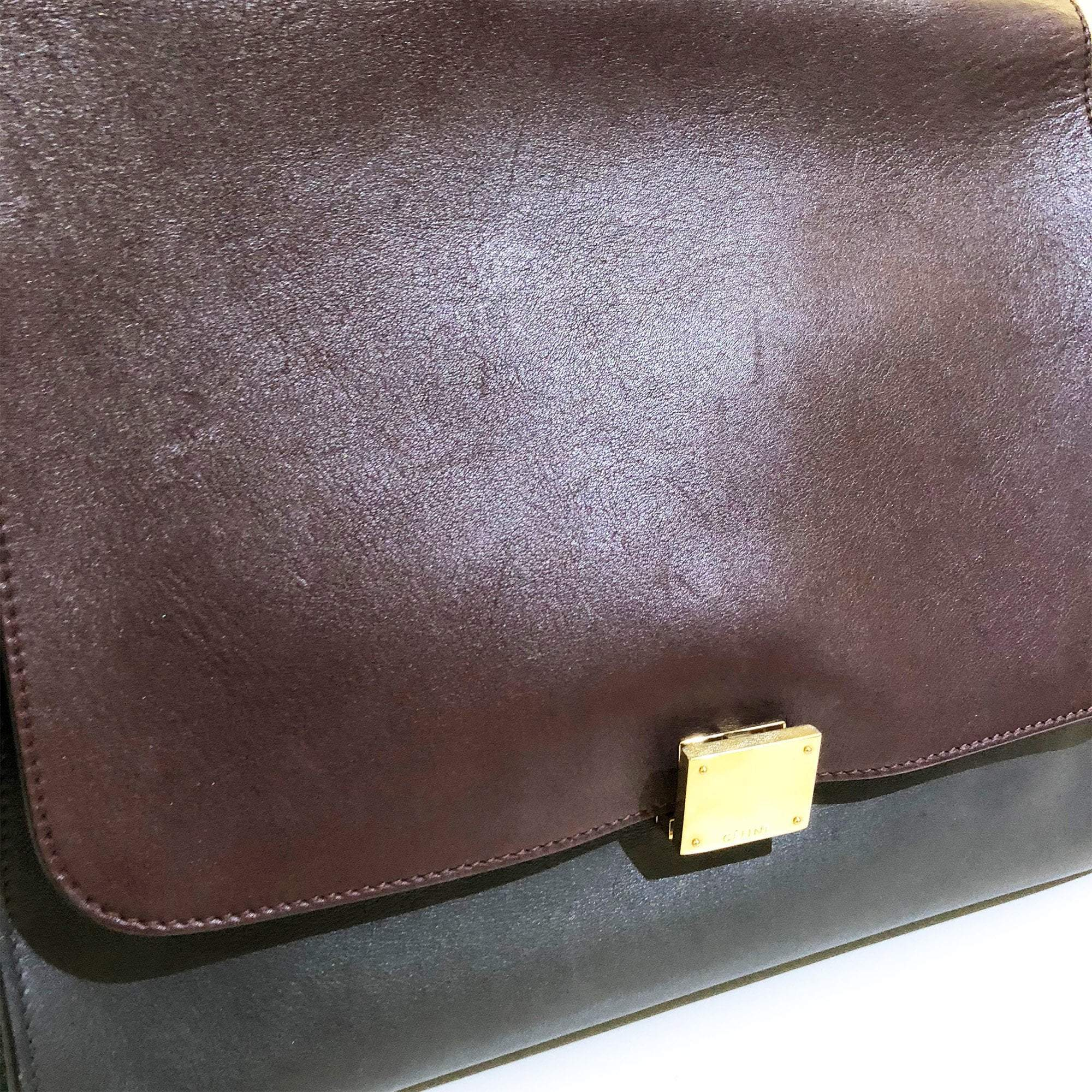 Celine Tri Color Leather Large Trapeze Bag