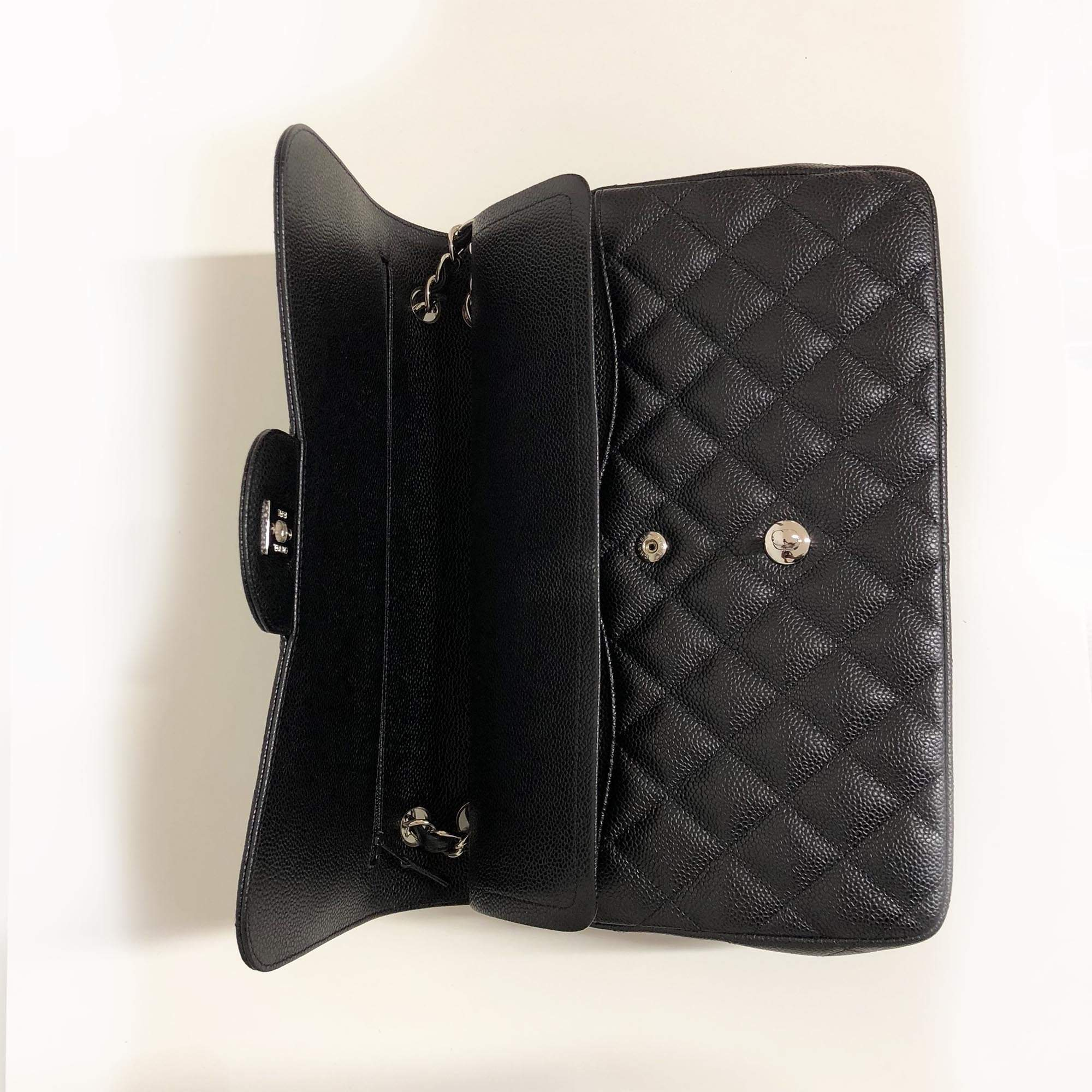 Chanel Black Caviar Jumbo Classic Double Flap Bag