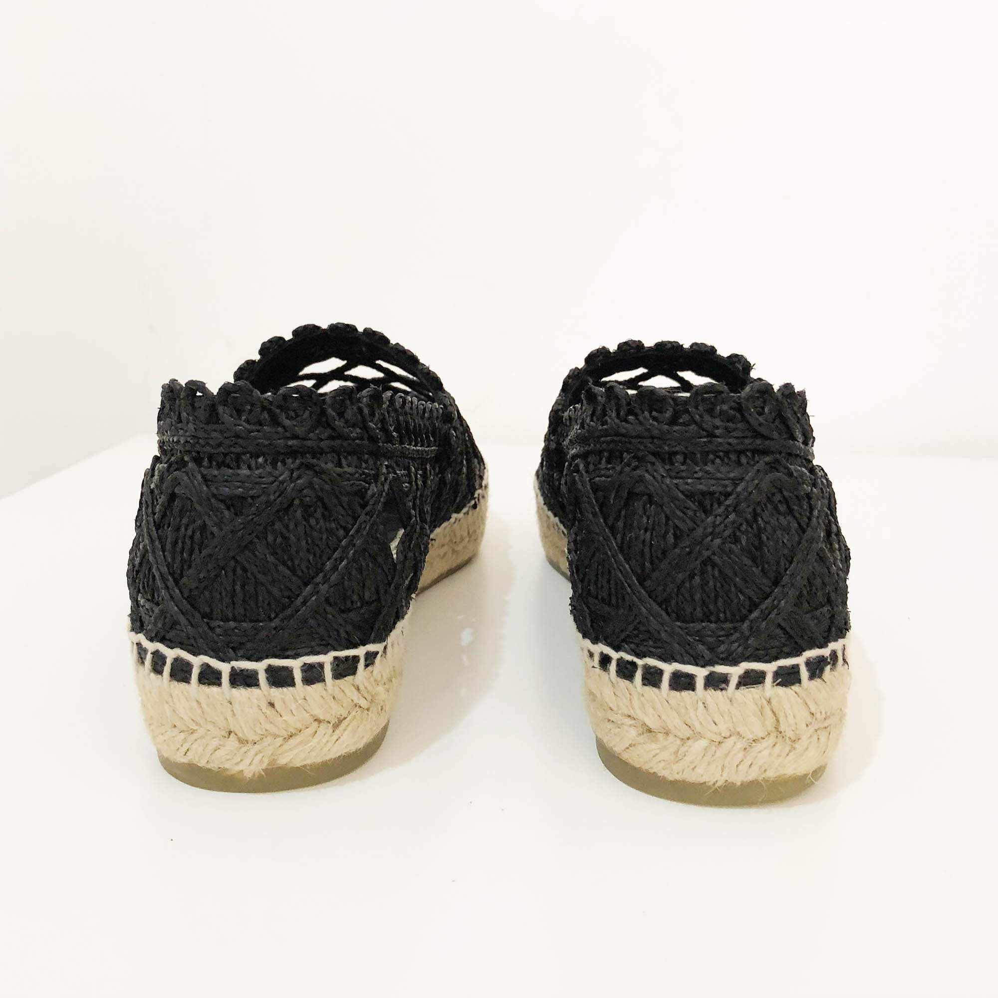 Chanel Black Grosgrain 2018 Espadrilles