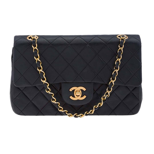 Chanel Vintage Small Classic Lambskin Doubleflap Bag