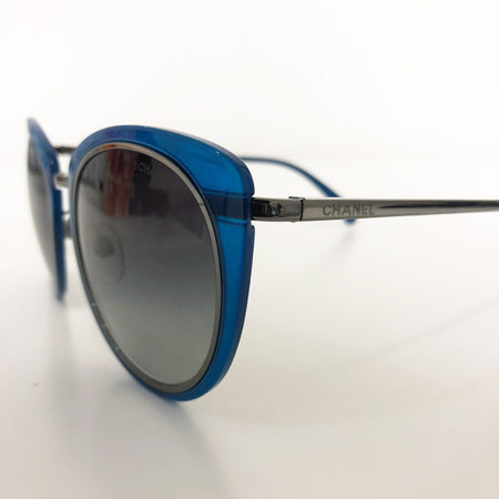 Chanel Blue Cat Eye Sunglasses