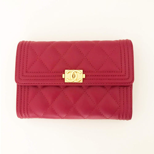 Chanel Small Fuschia Boy Wallet
