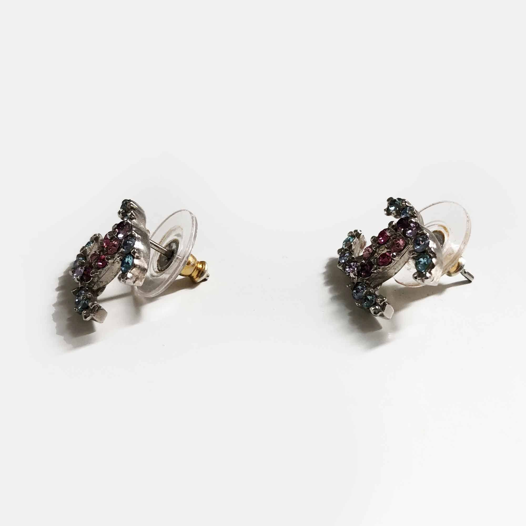Chanel CC Crystal Earrings