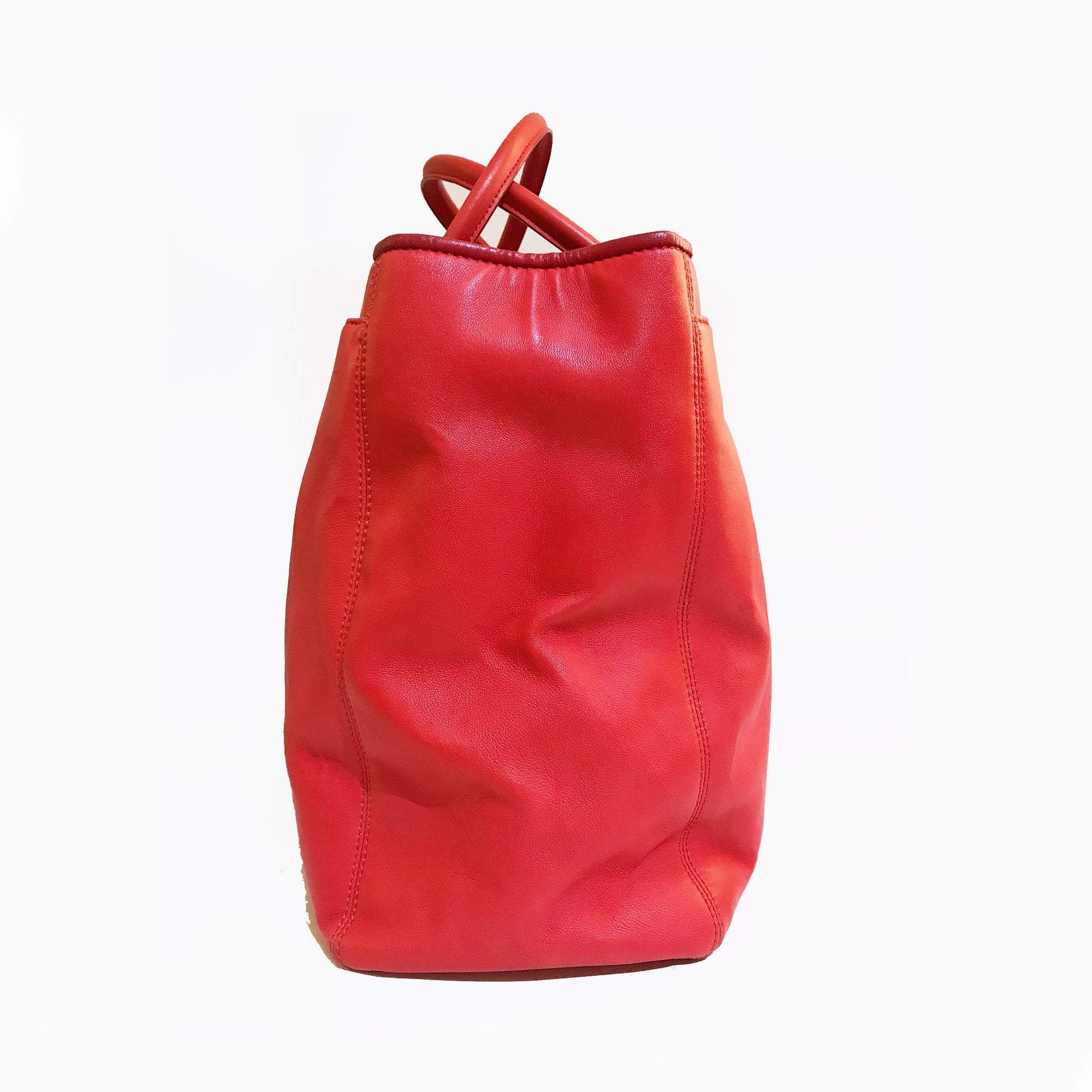 Chanel Calfskin Red Cerf Executive Shopping Tote
