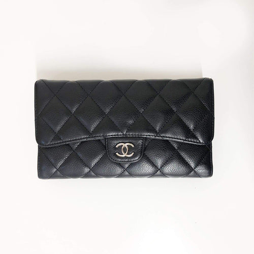 Chanel Caviar Leather Flap Wallet