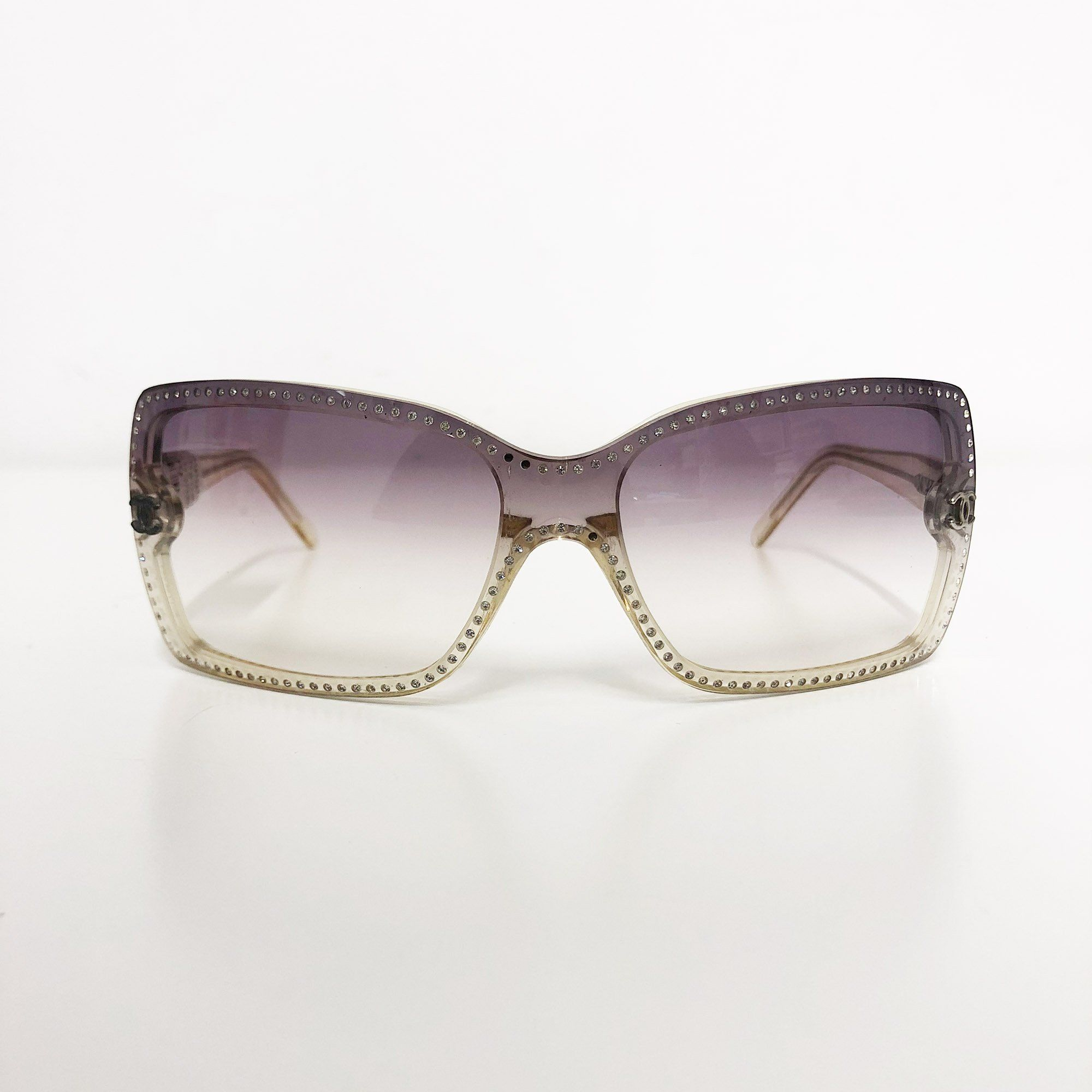 Chanel Crystal Border Square Sunglasses