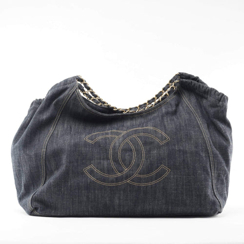 Chanel Denim XL Coco Cabas Tote Blue
