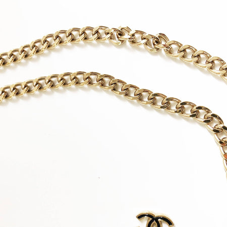 Chanel Enamel CC Chain Belt Light Gold Black