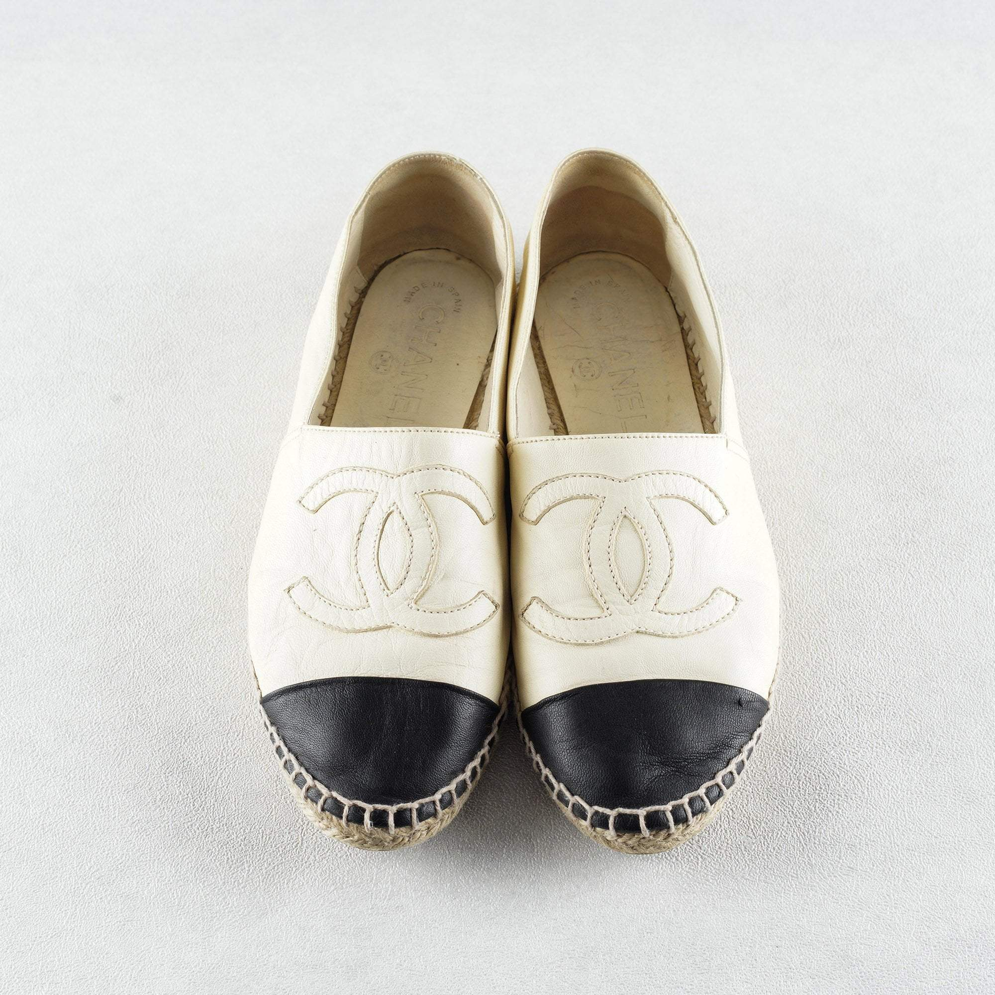Chanel Leather CC Espadrilles 39