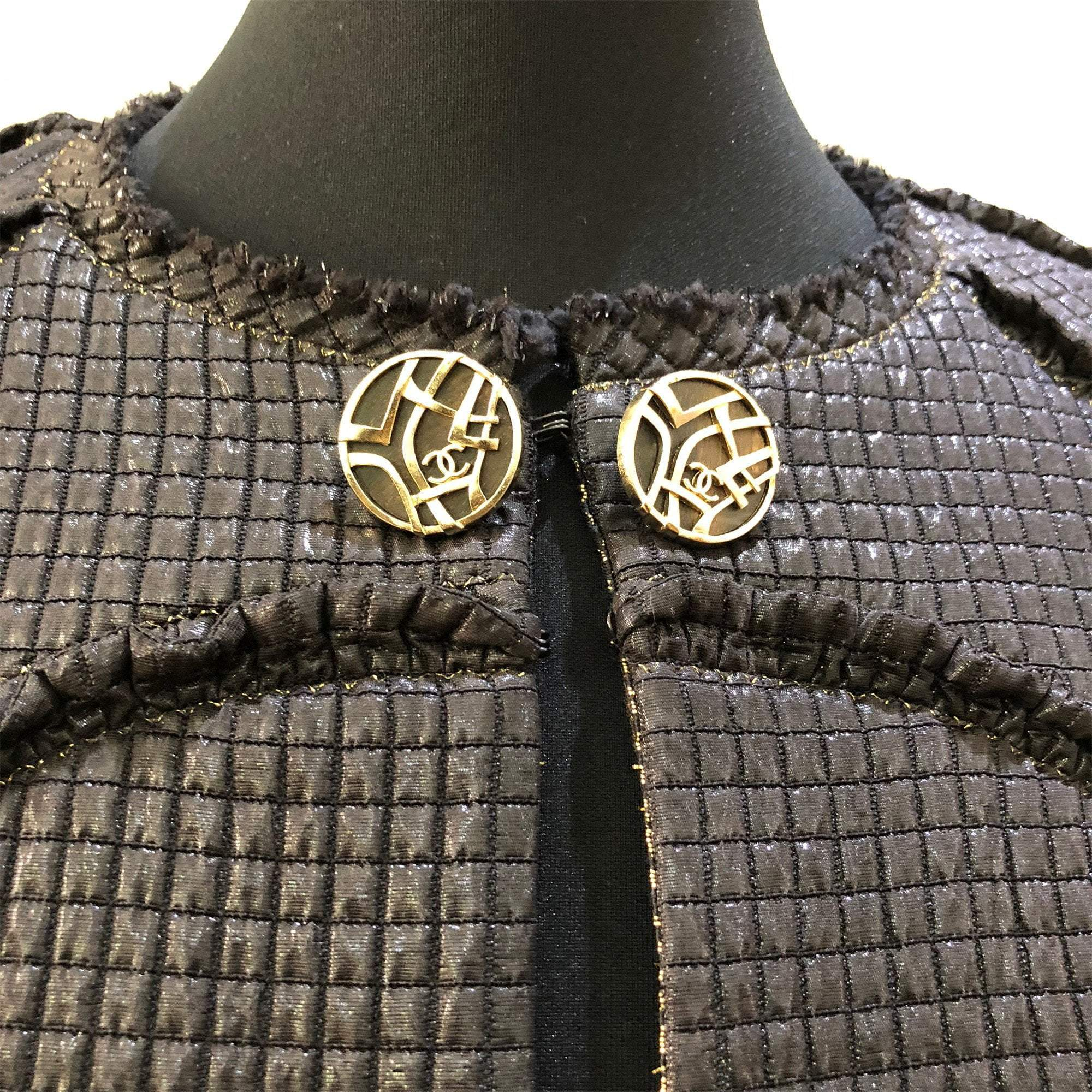 Chanel Black Fabric Jacket