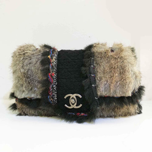 Chanel Fantasy Fur Maxi Flap Bag