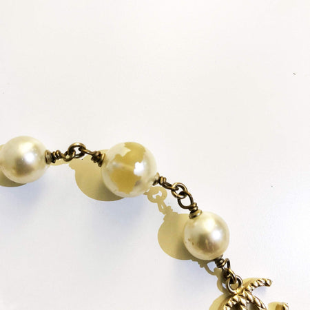 Chanel Faux Pearl CC Necklace