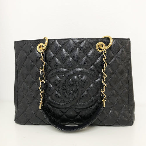 Chanel GST Black Grand Shopping Tote Bag