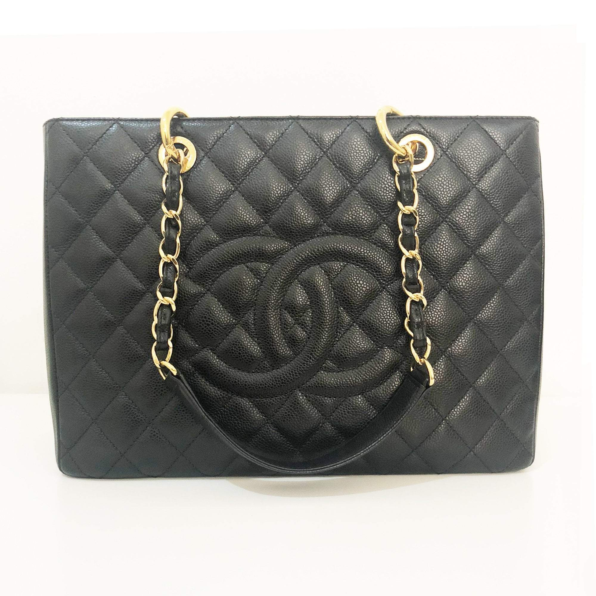 Chanel Black Caviar Classic Grand Shopper Tote GST Bag