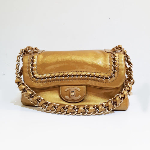 Chanel Small Gold Shoulder Bag