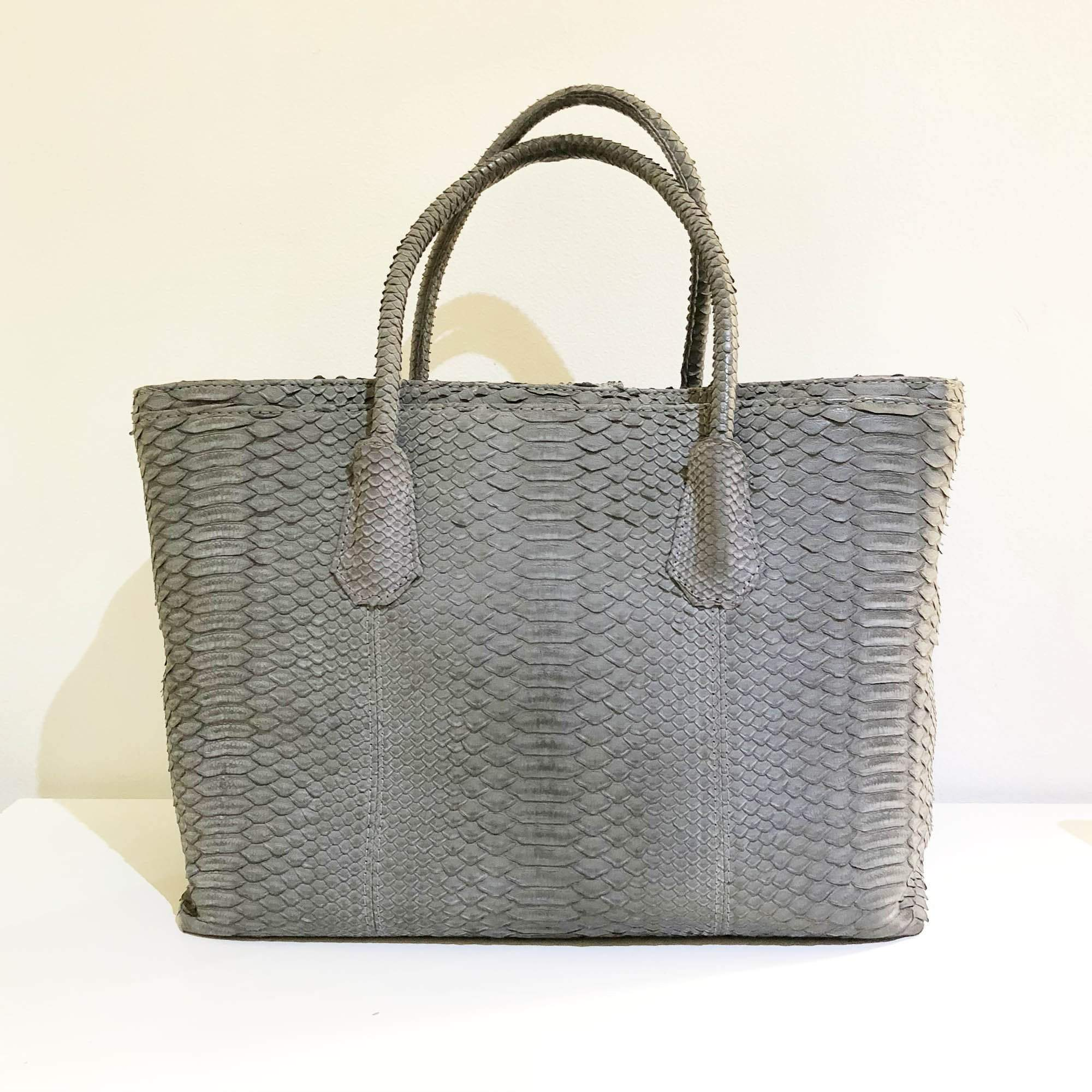 Chanel Grey Matte Python Neo Executive Large Shopping Bag