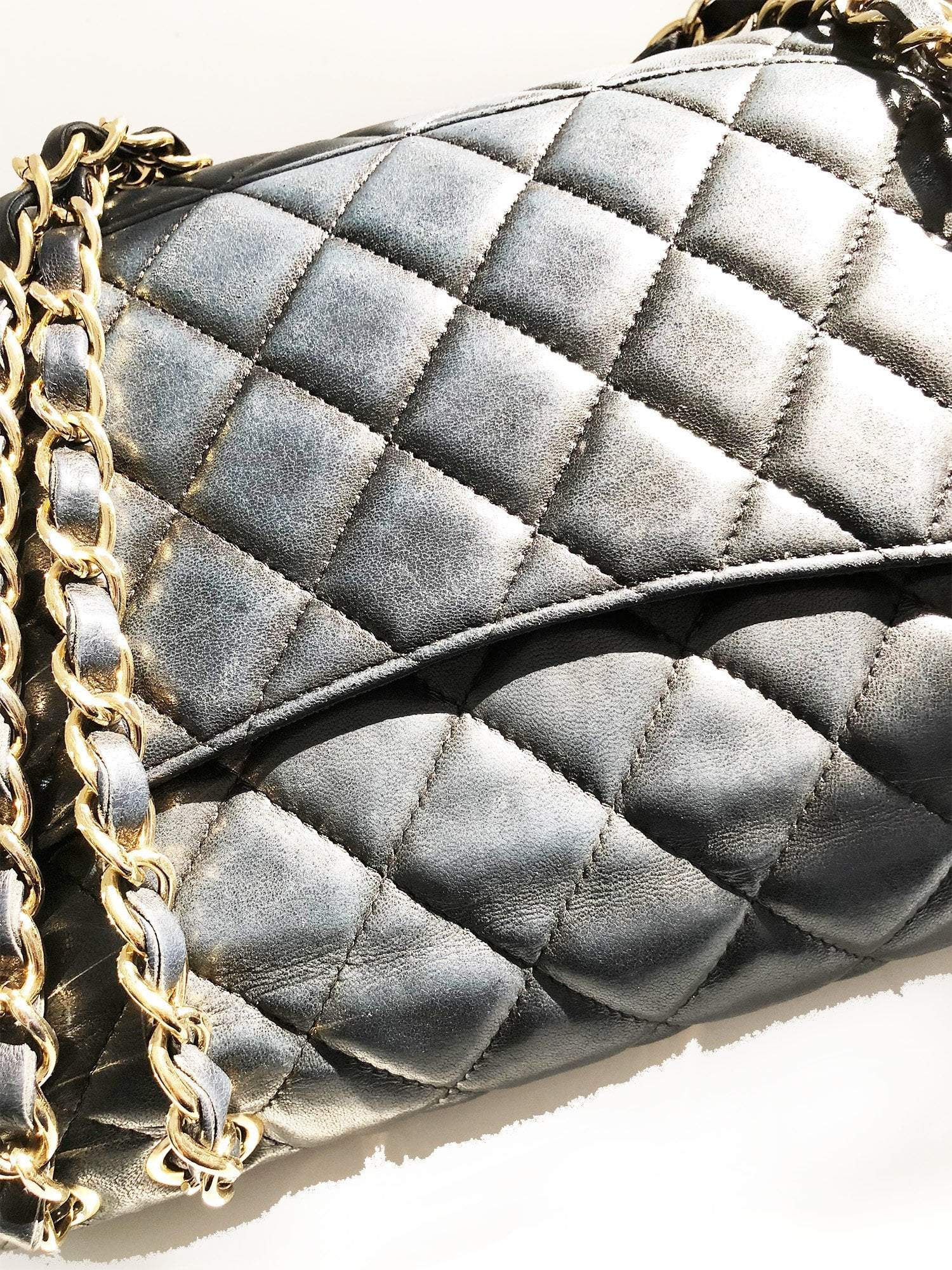 Chanel Lambskin Classic Black Flap Bag Jumbo