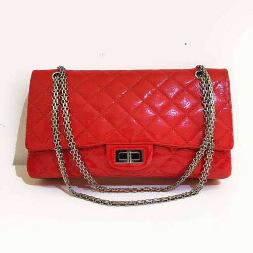 Chanel Patent Leather 2.55 Reissue 226 Double Flap Bag