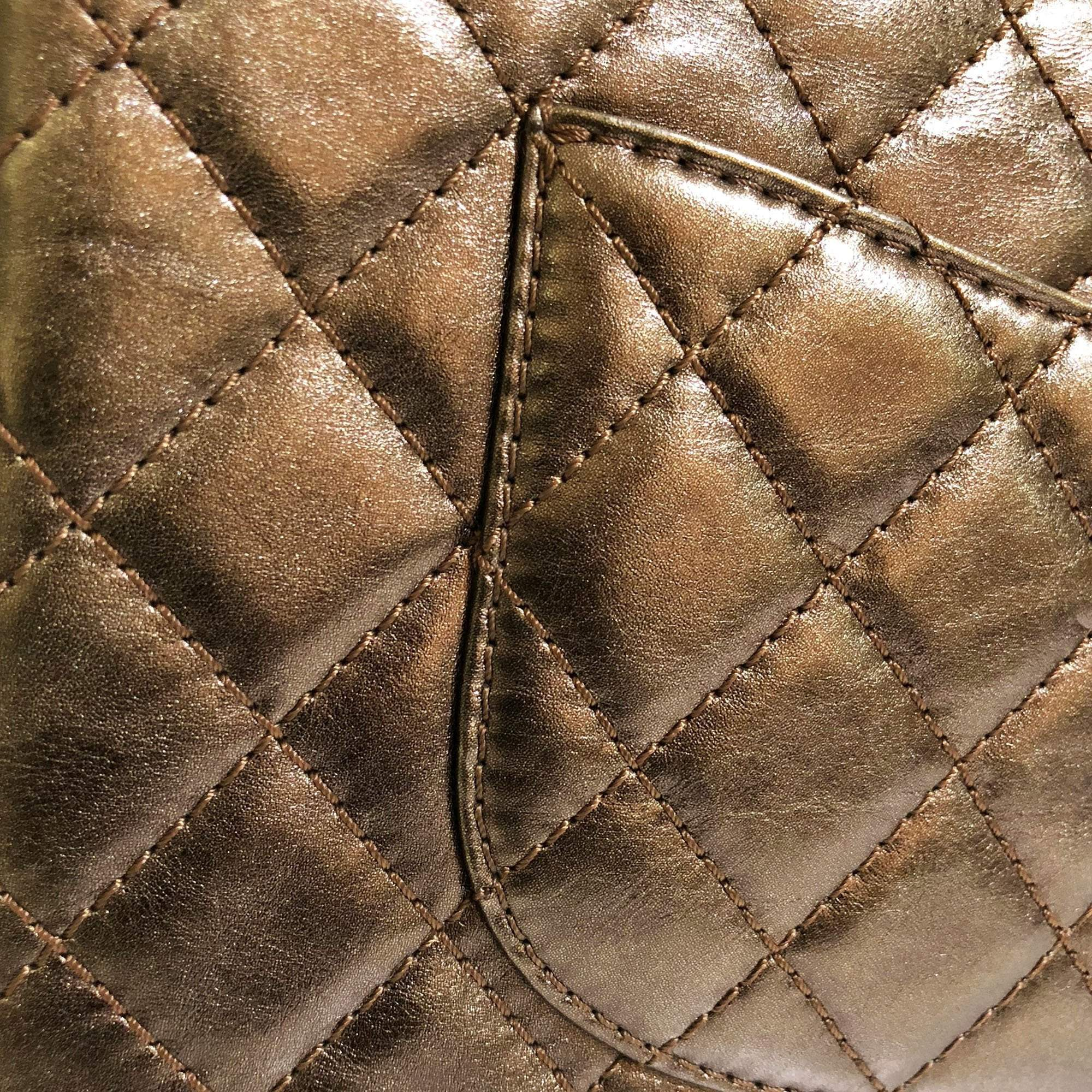 Chanel Bronze Leather Medium 2.55 Reissue Double Flap Bag
