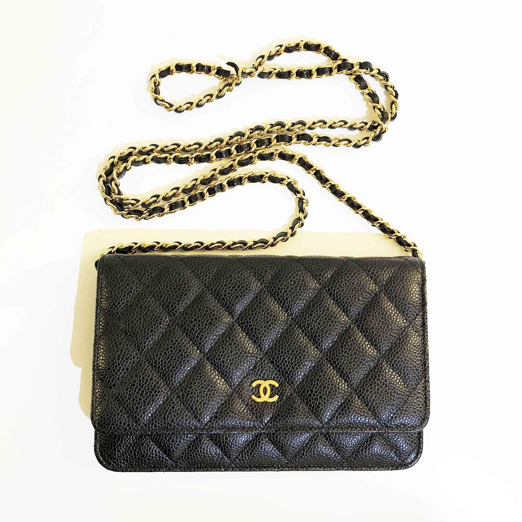 d1a1fabf38ec Chanel Caviar Quilted Wallet On Chain – Garderobe