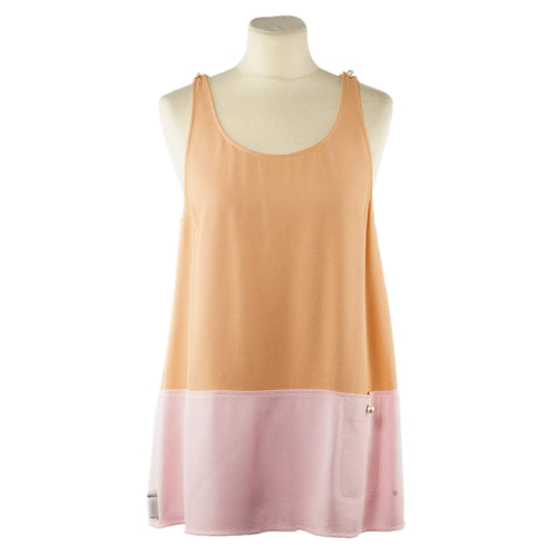 Chanel Viscose Sleeveless Top With Faux Pearl Buttons